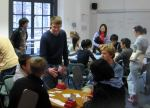 Jon Green teaching Bridge to students at LSE in 2008