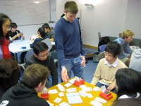 Photo of Jon Green teaching Bridge to LSE students in 2008