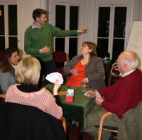 Photo of Jon Green teaching Bridge at the YCBC in 2008